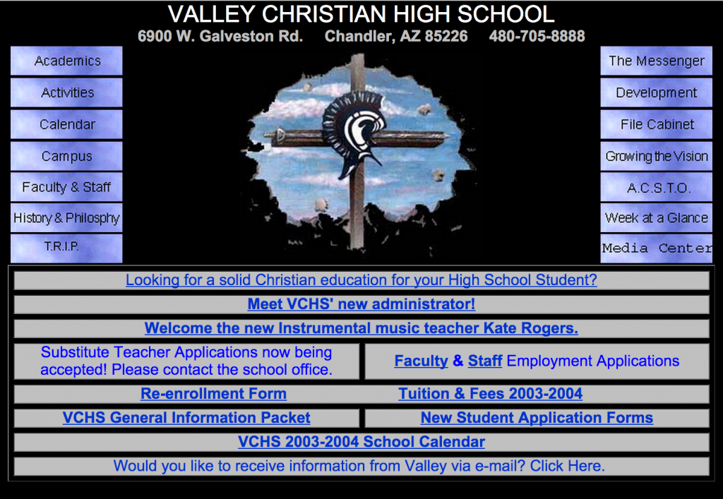 VCHS-homepage
