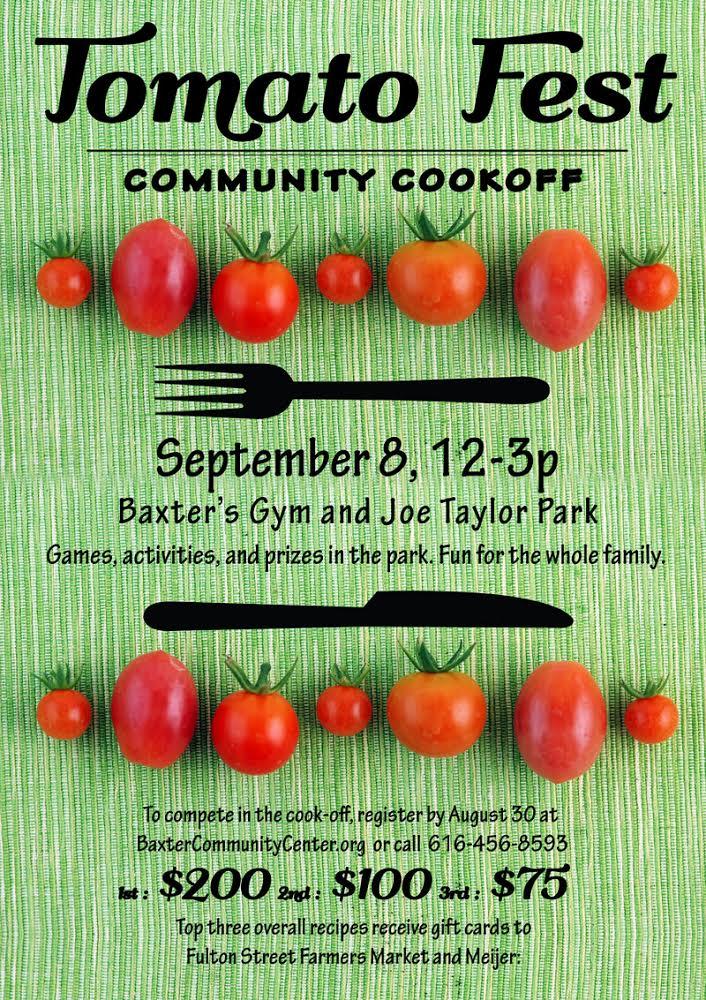 baxter community center tomato festival